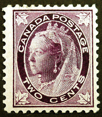 Canada #68 2c Purple 1897 Queen Victoria Maple Leaf VF *MLH*