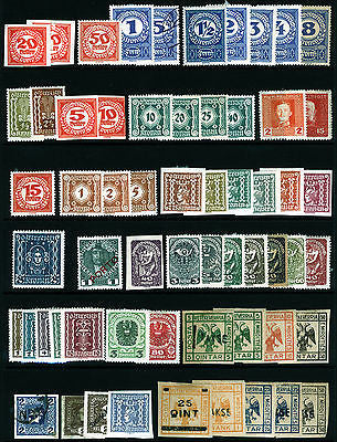 Austria Postage Due & Newspaper Lot Mint & Used 60 items Fresh