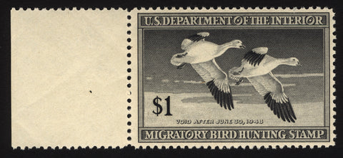 #RW14 $1 Black Duck Hunting 1947  VF-XF *MNH*