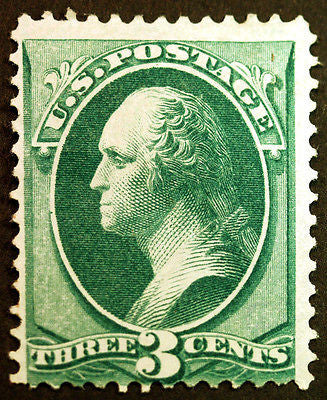Classic #147 3c Green 1870 Unused without gum CV $80+