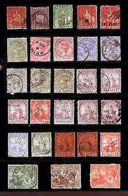 Early Trinidad 1851-1928 VF Fresh Used 28 items