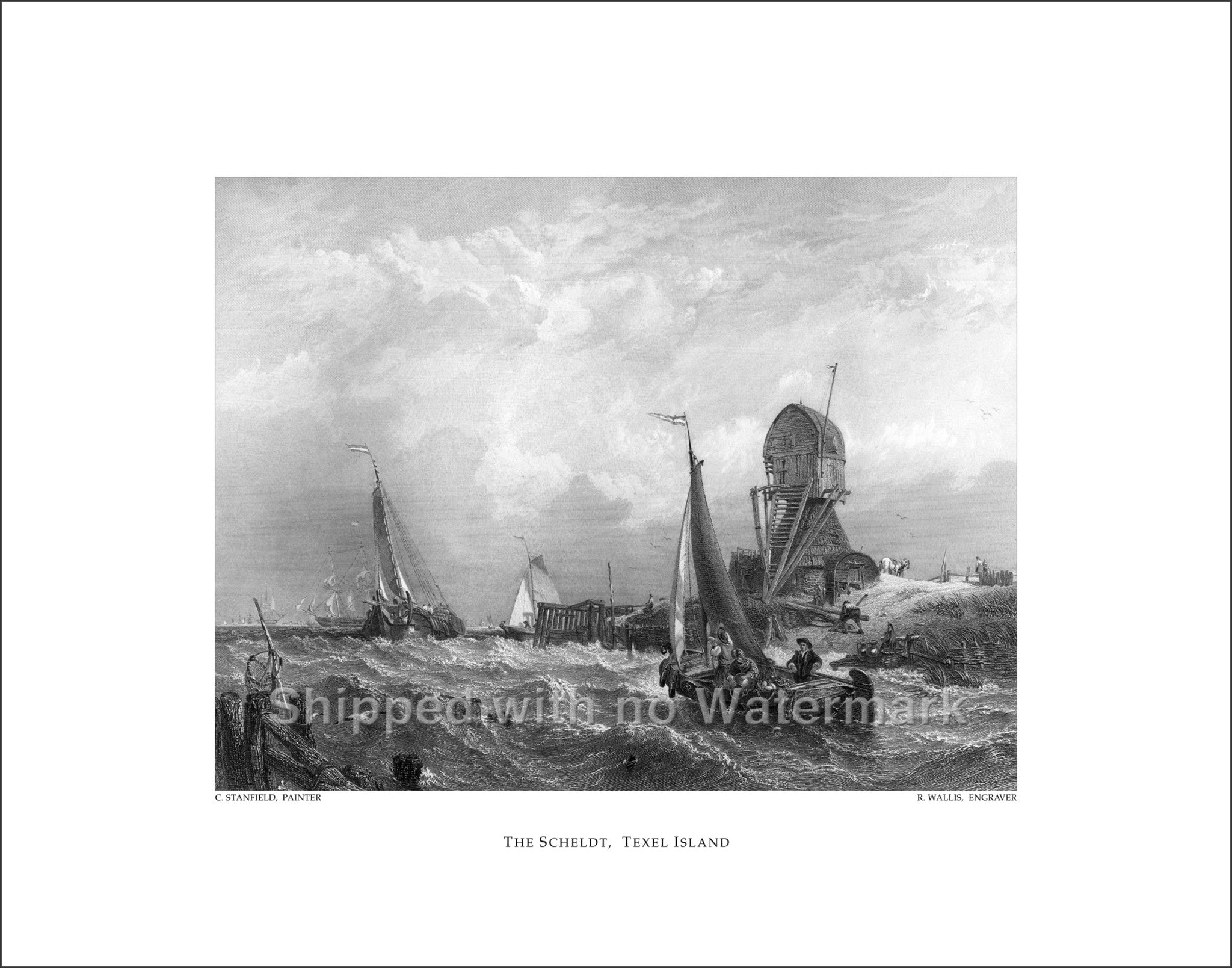 "THE SCHELDT Engraving Reproduction 11""x14"" $39.95"