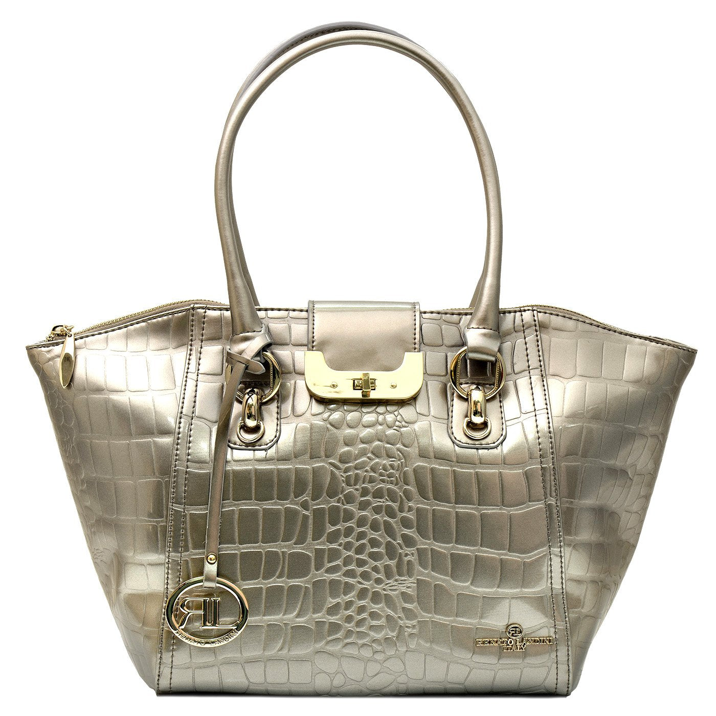 RENATO LANDINI Lady's Bag Light Gold/ Champagne