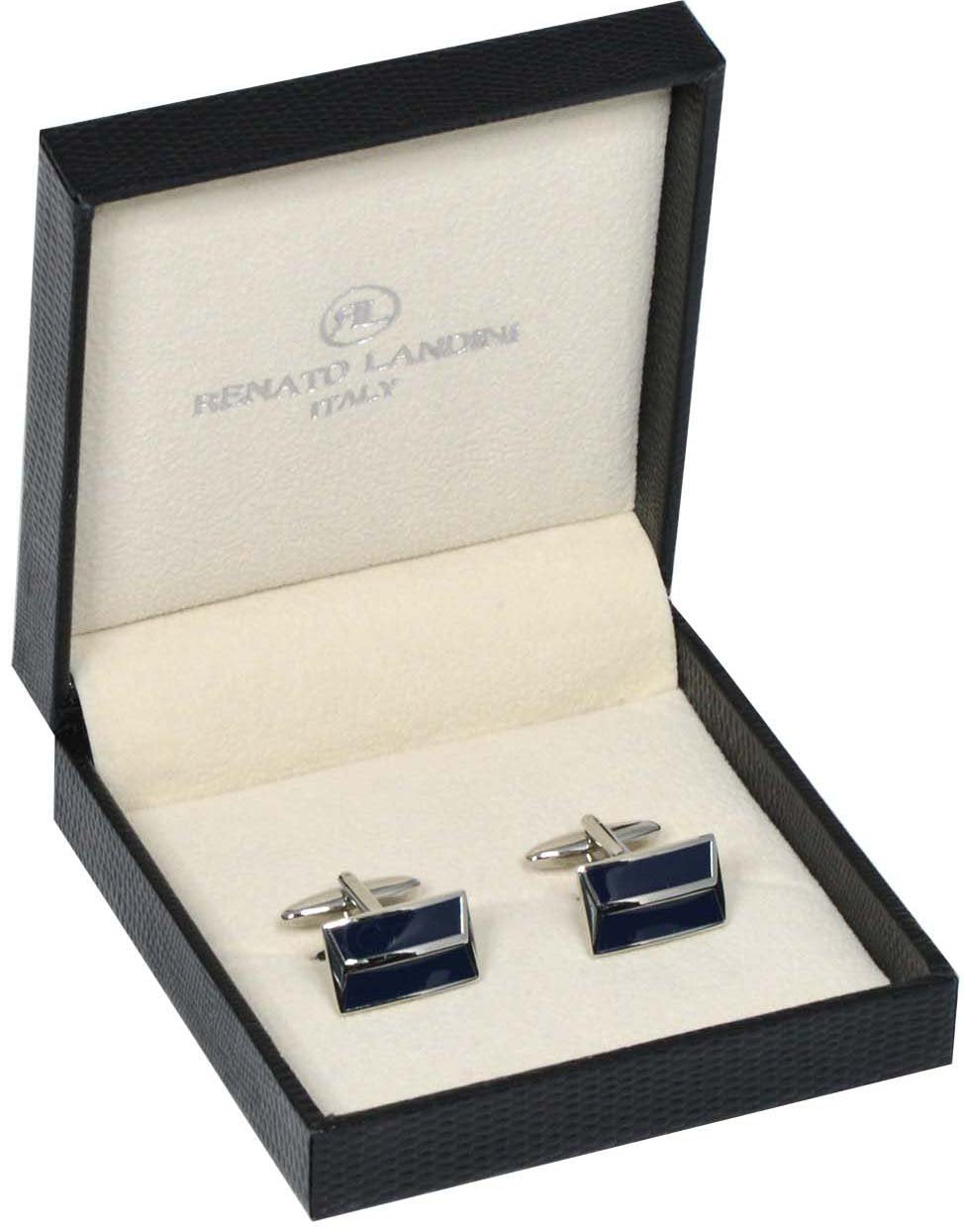RENATO LANDINI Navy Blue & Chrome Cufflinks/ Connection 31