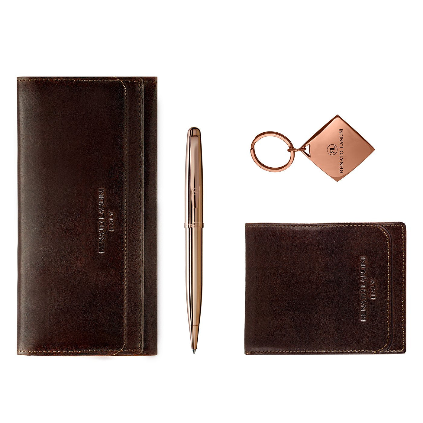 RENATO LANDINI Pen + Wallet Set + Key-Holder