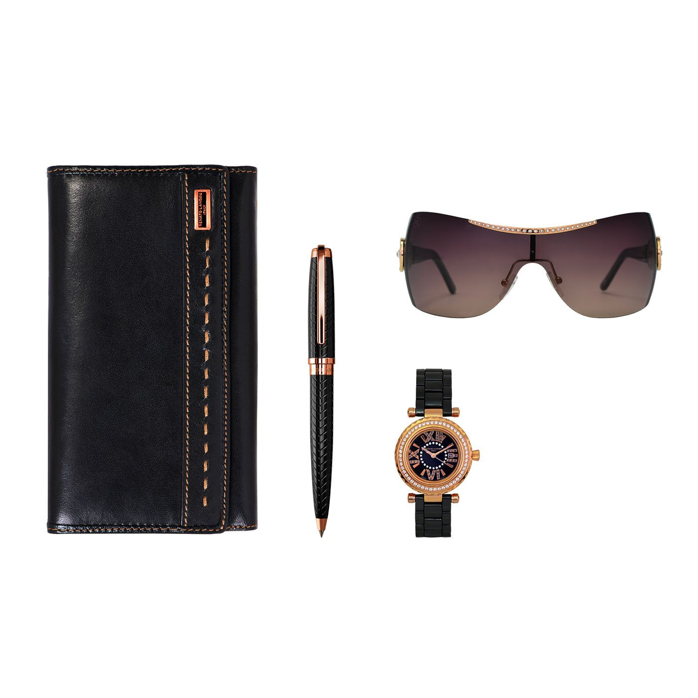 RENATO LANDINI Pen + Wallet + Watch + Sun Glasses/ Women a