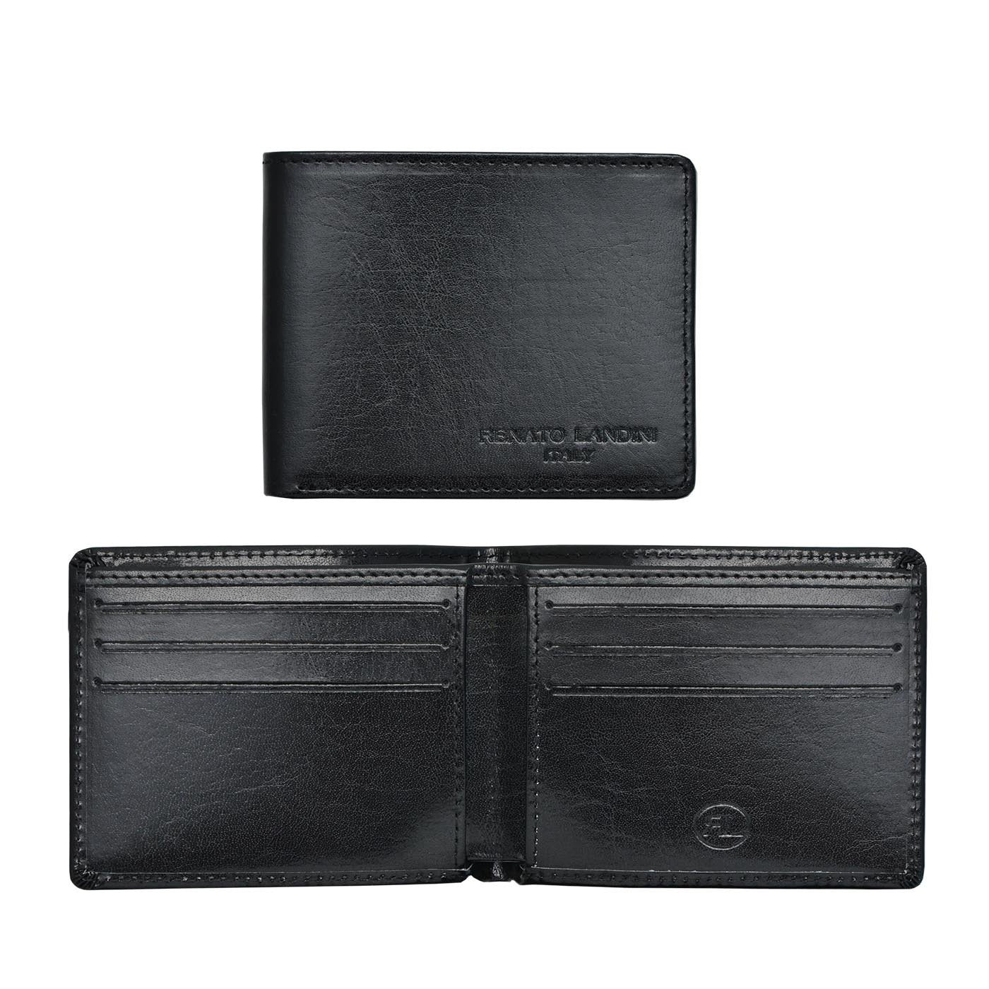 RENATO LANDINI Black Men's Wallet/ Aristocrat