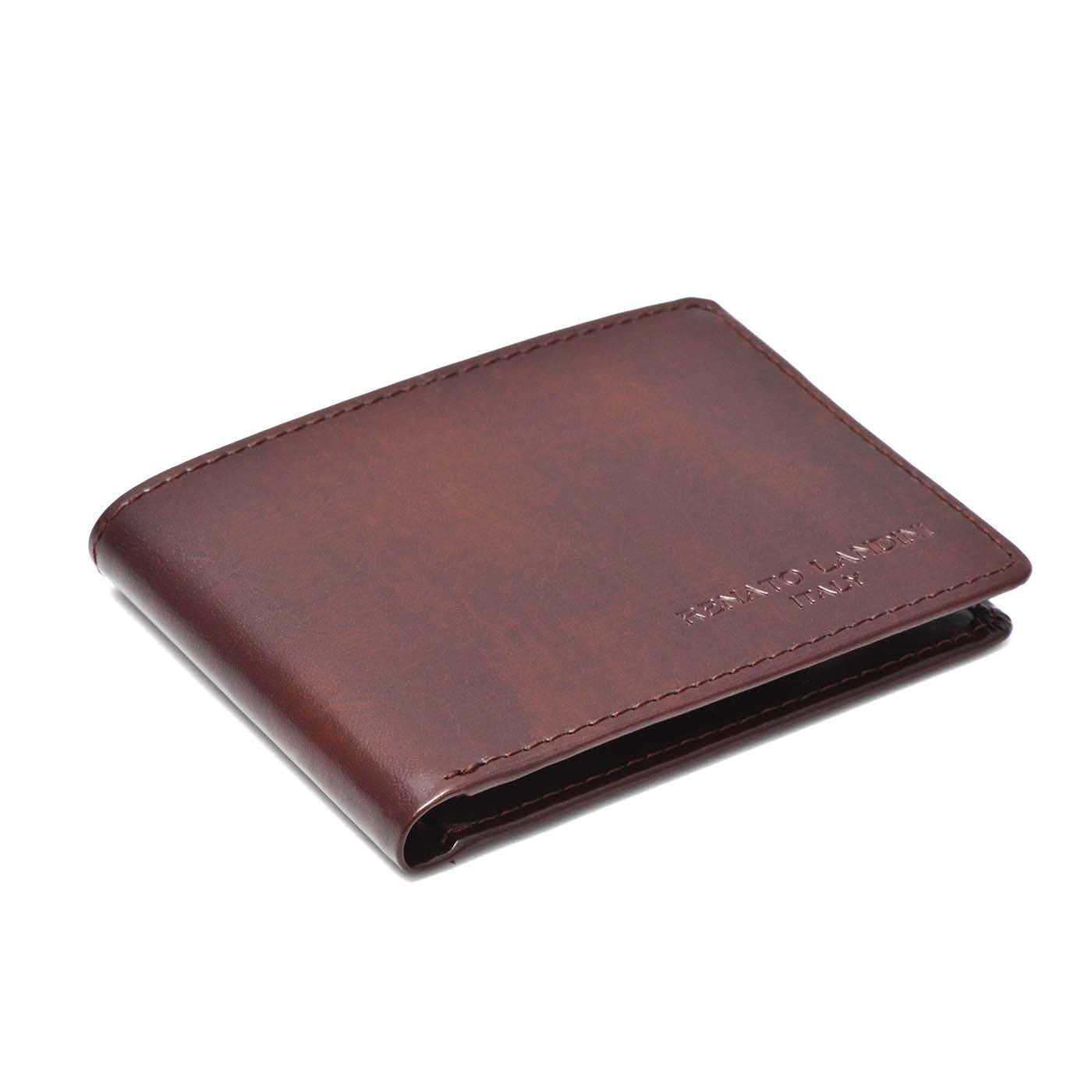 RENATO LANDINI Burgundy Men's Wallet/ Aristocrat