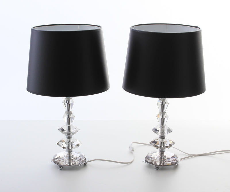 Table lamps in chrome & Glass 1920s B199