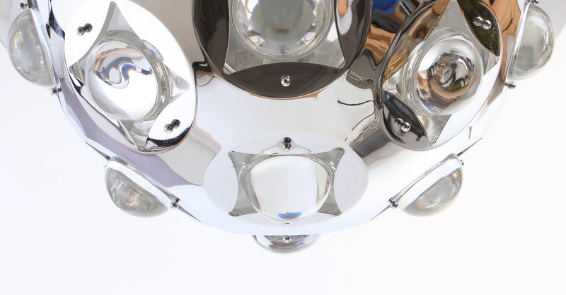 Ceiling lamp in chrome 1970s A264