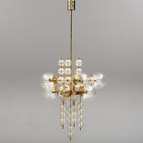 Ceiling lamp in brass 1970s A11