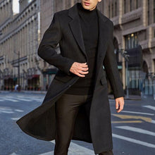 Load image into Gallery viewer, 6thAvenueStreetWear: 2020 Autumn And Winter Solid Windbreaker Jacket 2020 New Men Coat Fashion Long Trench Coats Lapel Business Overcoat