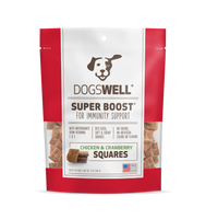 SUPER BOOST Squares Chicken with Cranberry Recipe Dog Treats