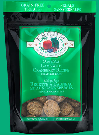 Fromm Four Star Lamb and Cranberries Oven Baked Dog Treats, 8-Ounce Bag