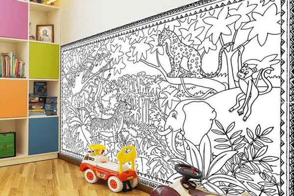 Playroom wall art with a difference
