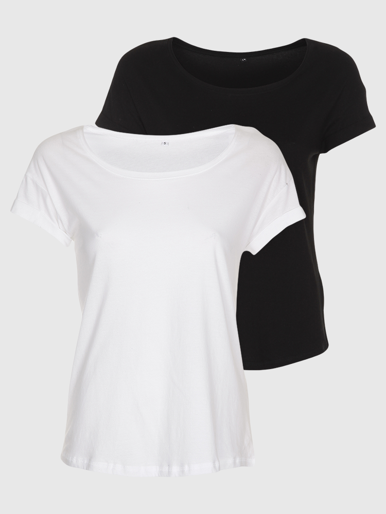 2 stk. Loose fit T-shirt - Bland selv