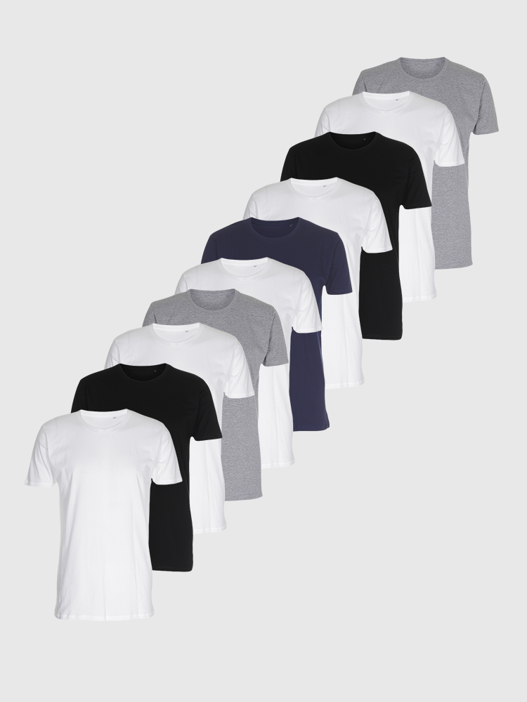 10 stk. Muscle T-shirts - Bland Selv