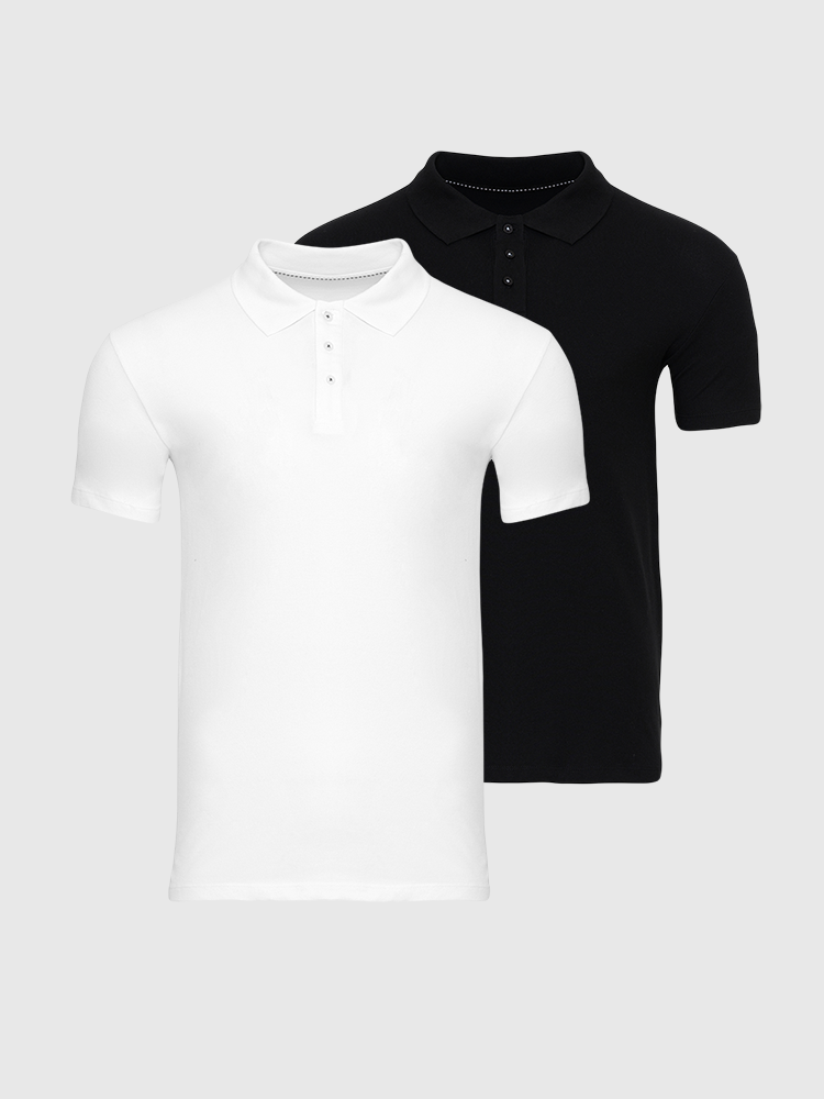 2 stk. Muscle Polo - Bland Selv