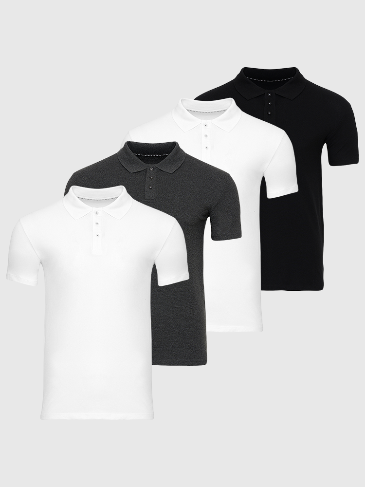 4 stk. Muscle Polo - Bland Selv
