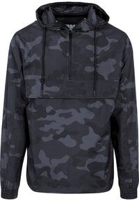 Camo Pull Over Windbreaker - Dark Camo - Herre - Packshot - Teeshoppen