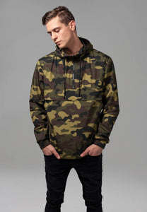 You added <b><u>Camo Pull Over Windbreaker - Wood Camo</u></b> tilføjet til kurven.