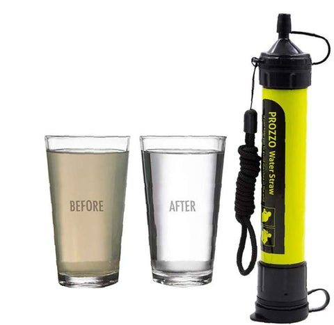 Buy the Yellow Portable Water Filter Straw - Wildog
