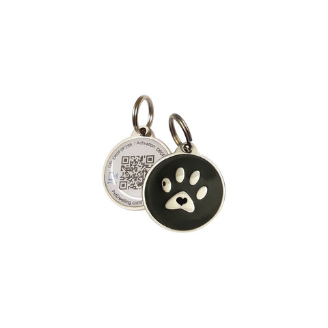 Buy the Black/blue Paw Service Dog Tags - Wildog