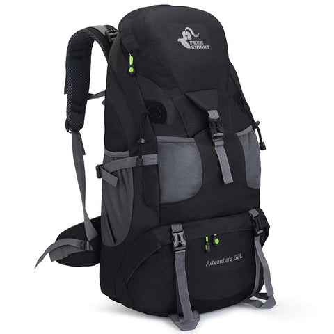 Buy the Black 50l Best Overnight Camping Backpack - Wildog