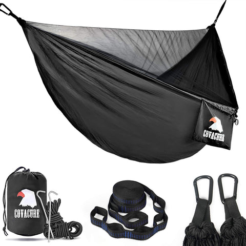 Buy the 772 lb Capacity Black Colored Portable Camping Hammock -Wildog