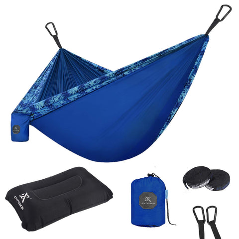 Buy the Navy Blue Lightweight Camping Hammock - Wildog