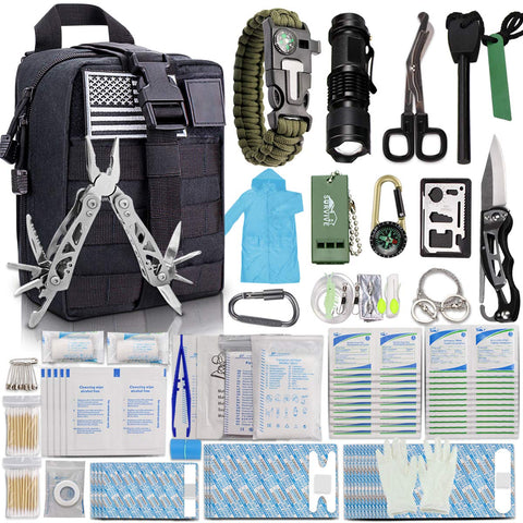 Buy the 302 Piece Basic Survival First Aid Kit - Wildog
