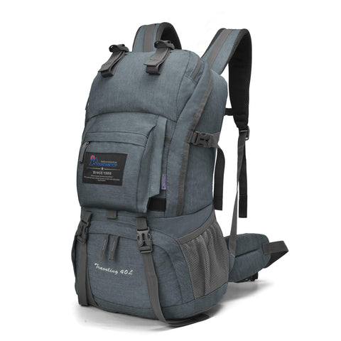 Buy the Gray 40L Best Backpacks for Hiking and Camping - Wildog
