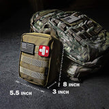 Buy the Tan/black/multicam 200 Piece Hiking First Aid Kit - Wildog