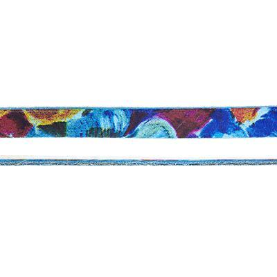 10mm Blue Floral Water Color Flat Leather - Goody Beads