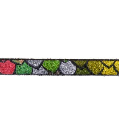5mm Rainbow Scales Ornate Printed Flat Leather - Goody Beads