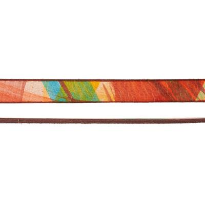 10mm Red, Orange, and Yellow Ornate Printed Flat Leather - Goody Beads