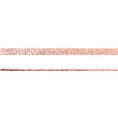 5mm Rose Gold Pearl Metallic Flat Leather - Goody Beads