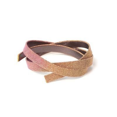 10mm Sunset Iridescent Fabric Flat Leather - Goody Beads