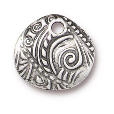 14mm Antique Pewter Jardin Charm by TierraCast - Goody Beads