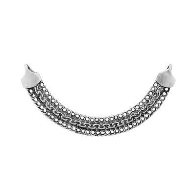 1  Pendant connector Large Necklace chandelier Matte Silver Plated Bib blank Turkish jewellery supplies findings mdla854