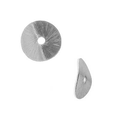 10mm Silver Plated Wavy Disc Bali Style Bead - Goody Beads