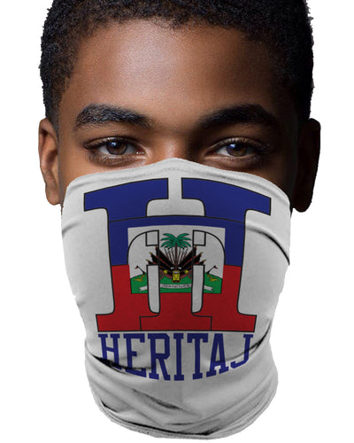 HAITIAN FLAG-ACTIVITY MASK (UNISEX)