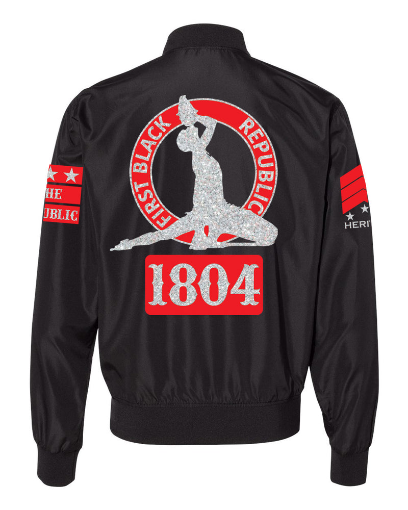 1804-FBR-LIGHTWEIGHT BOMBER-(SHINY SILVER PRINT)