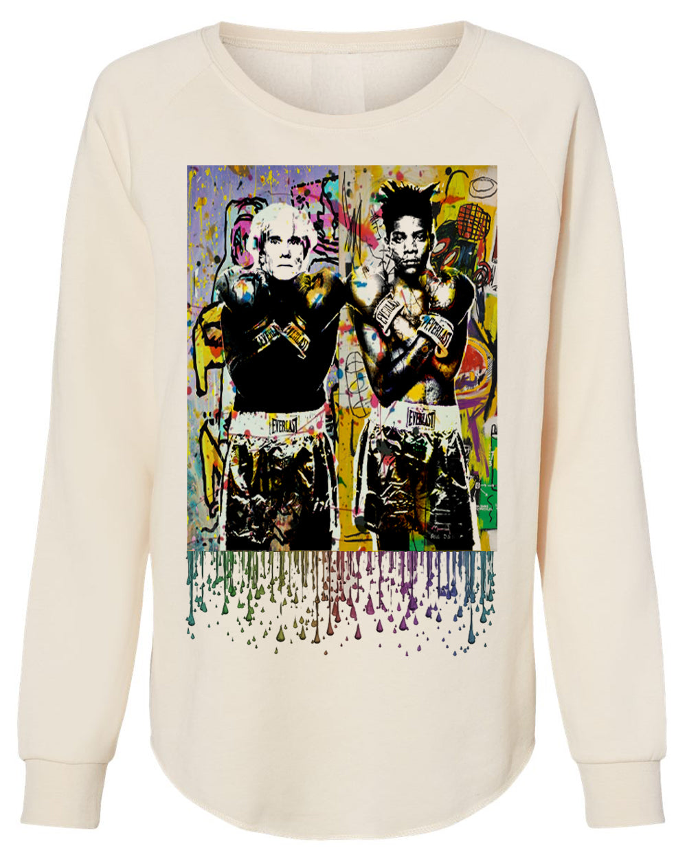 ART FUSION (BASQUIAT/WARHOL)-FRENCH TERRY SWEATER