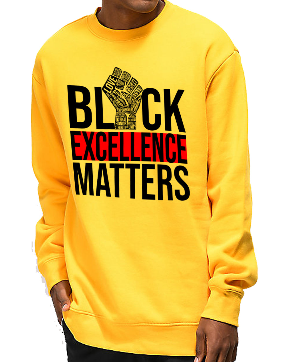 EXCELLENCE DRIVEN-GOLD SWEATER