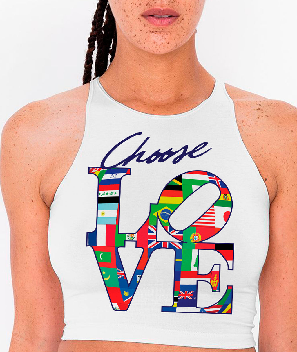 CHOOSE LOVE-CROPTOP