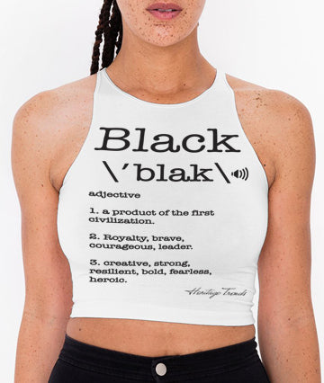 BLACK DEFINITION-CROP-TOP
