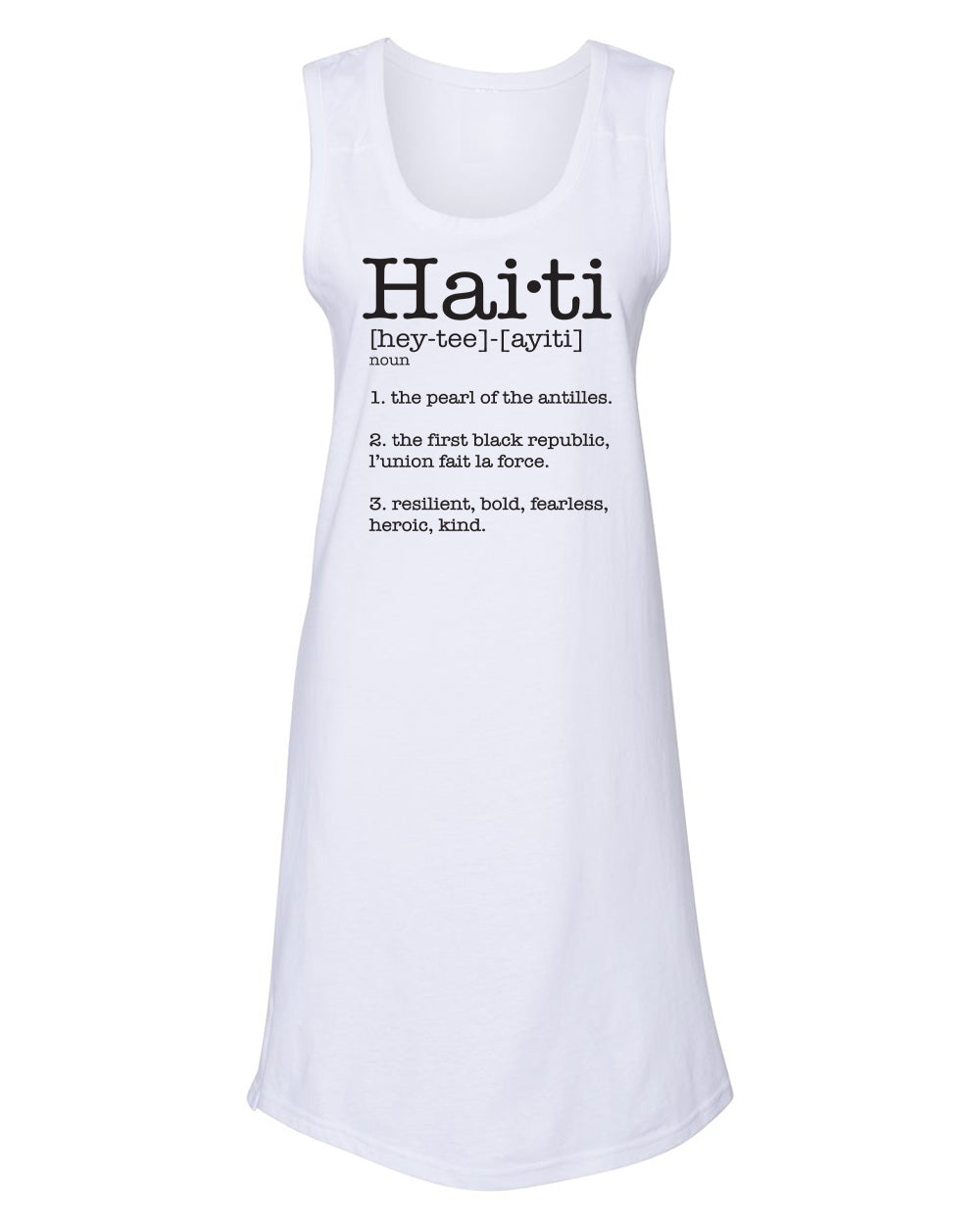 HAITI DEFINITION-(JERSEY TANK DRESS)