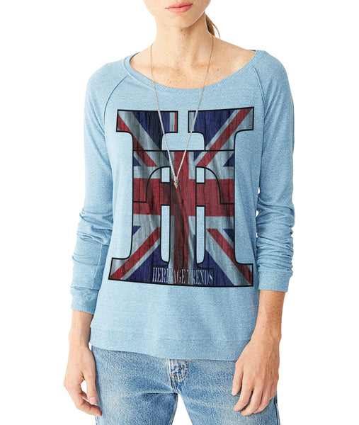 HT-GREAT BRITAIN FLAG-RAGLAN PULLOVER