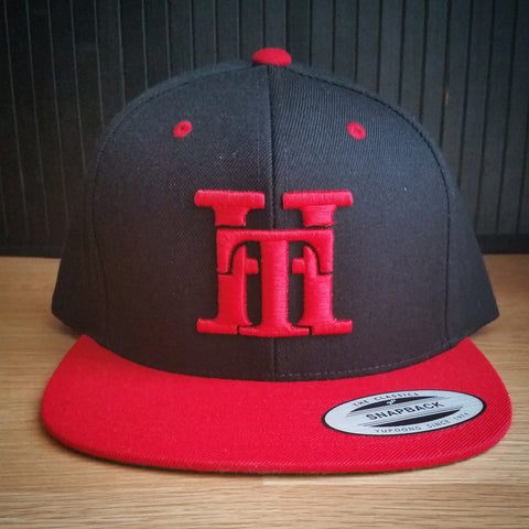 HT-HAT-BLACK/RED-(RED LOGO) SNAPBACK